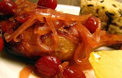 Рецепт утки, запеченной с вишнями