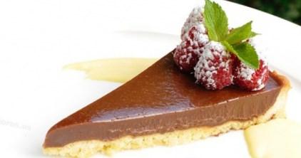 Рецепт шоколадного пирога с малиной