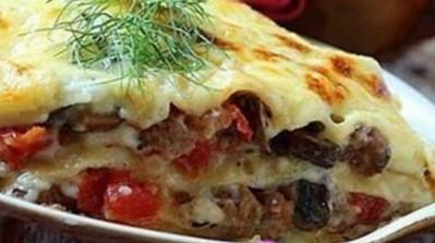 Рецепт лазаньи с грибами и мясом