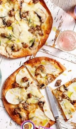 Рецепт пиццы с грибами, бараниной и картофелем