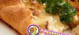 Рецепт пирога с грибами, сметаной и сыром
