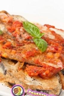 Рецепт запеканки из баклажанов, помидоров, хлеба и сыра