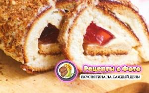 Рецепт бисквитного рулета с желе