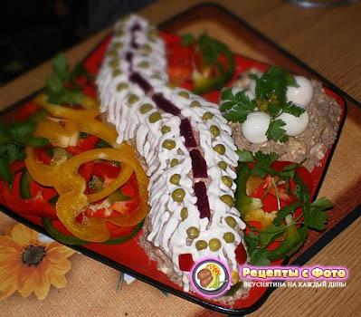 Рецепт салата «Змеиное гнездо»
