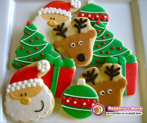 Рецепт - Новогоднее печенье на елку