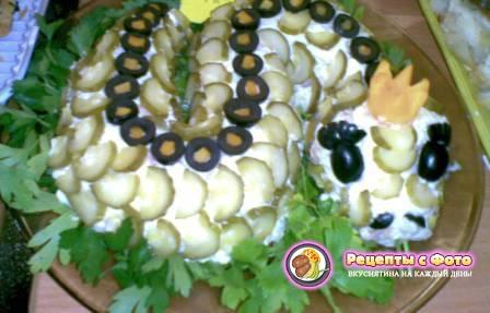 Салат змея рецепт