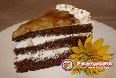 рецепт бананового бисквитного торта