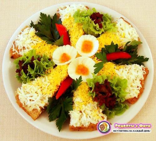 Рецепт - Новогодний закусочный торт