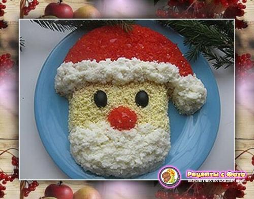 Рецепт бутербродов «Дед Мороз»