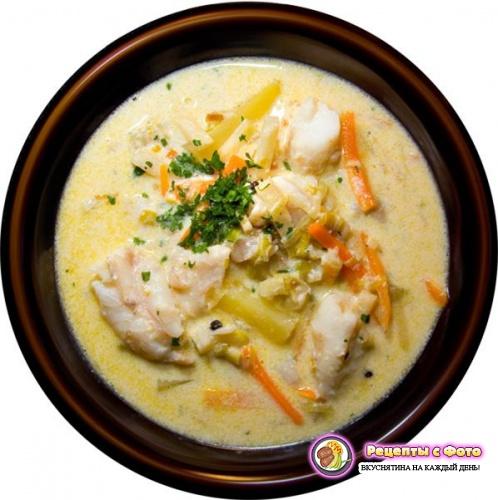 Рецепт праздничного Сливочного супа