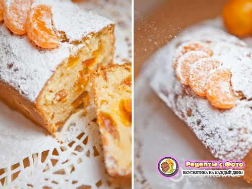 Рецепт - Новогодний мандариновый пирог