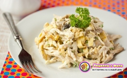 Рецепт - Новогодний салат «Рваная курица»