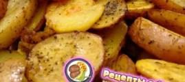 Рецепт запеченого картофеля по-деревенски