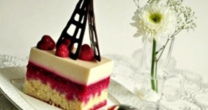 Рецепт – Пирожное «Малина в шампанском» на День Валентина