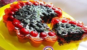 Рецепт – Пирог с шелковицей и желе на 14 февраля