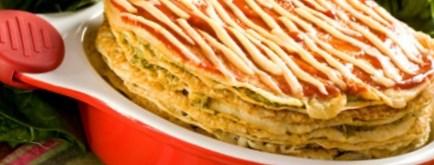 Рецепт - Блинчатый пирог с куриной печенью на Масленицу
