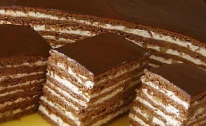 торт шоколадный с черносливом и грецкими орехами рецепт с фото