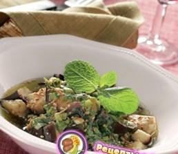 Рецепт - Баклажаны с чесноком и мятой