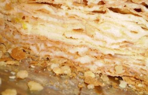 Рецепт слоеного торта наполеон