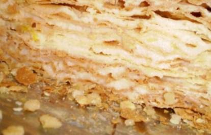 Рецепт слоеного торта  «Наполеон карамельно – кофейный»