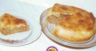 Мясной пирог в тесте