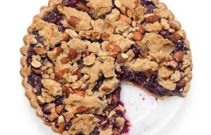 Рецепт черничного пирога со штройзелем