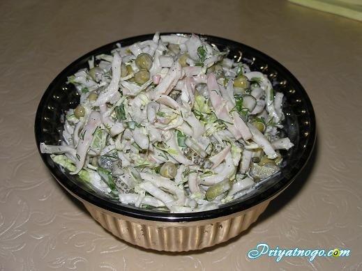 Кальмаровый салат фото