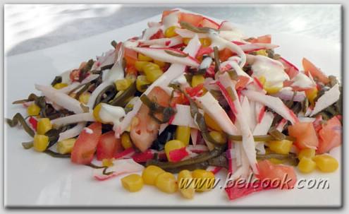 салаты из морской консервированной капусты
