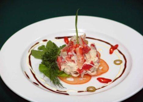 Крабовое мясо салат с огурцом рецепт
