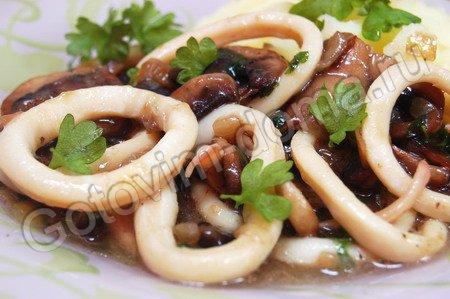 Кальмары фаршированные тушеные рецепты простые и вкусные 177