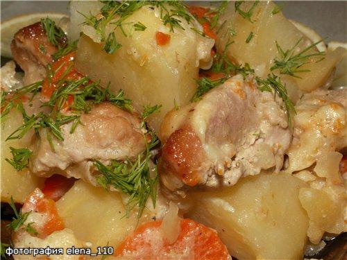Рецепты картофель со свининой