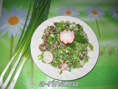 Салат печеночный летний