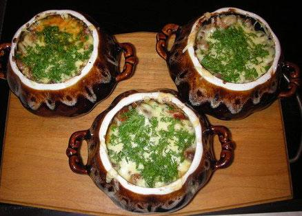 В горшочке с рисом в духовке рецепты с фото