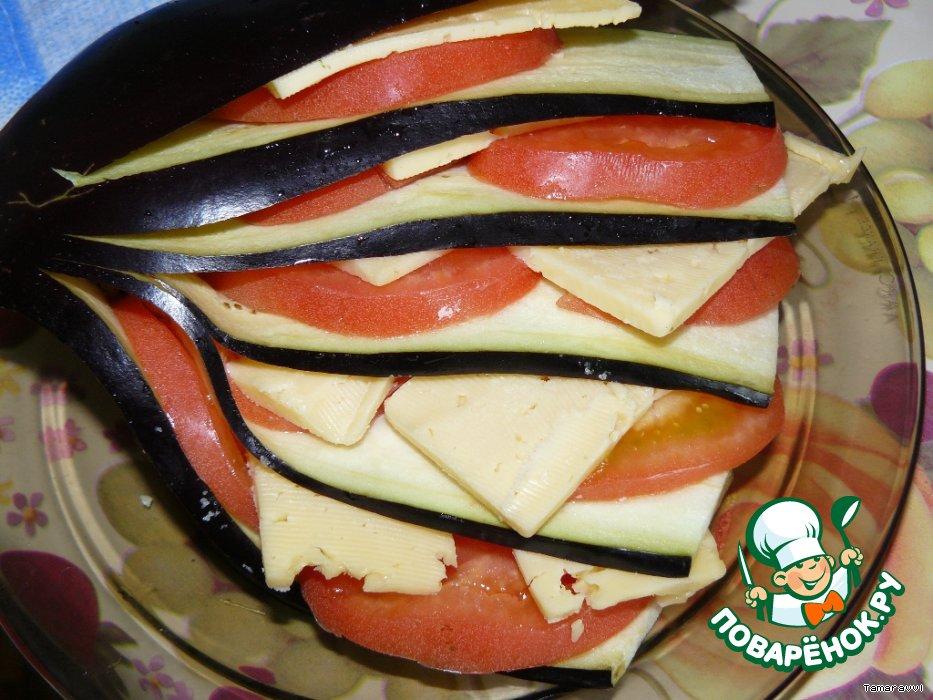 Фаршированные баклажаны с чесноком и сыром рецепт пошагово