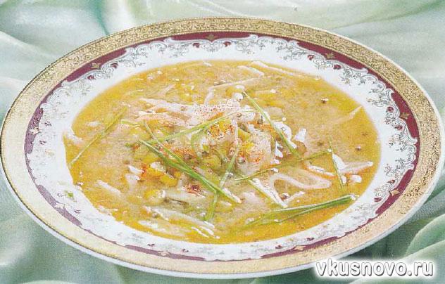 Суп с кукурузой и крабами или крабовыми палочками