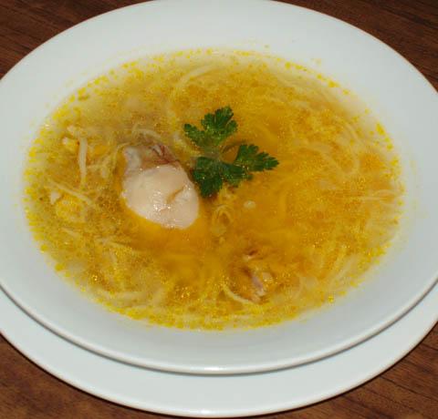 Домашний суп с курицей рецепт с фото