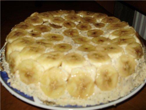 банановый торт рецепт с фото с готовыми коржами