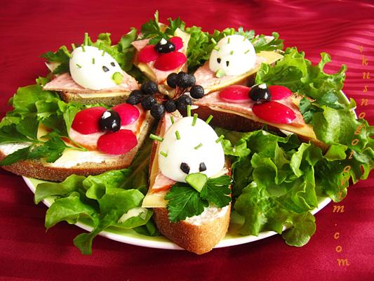 ежик бутерброд