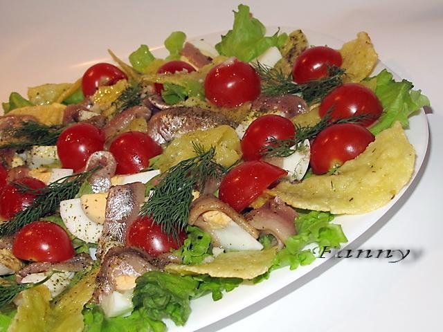 Салат с чипсами для детей рецепты