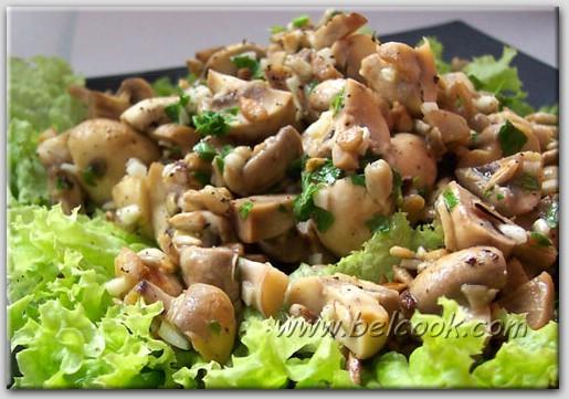 Просто салат из грибов