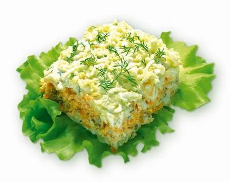 Салат с соленой рыбой