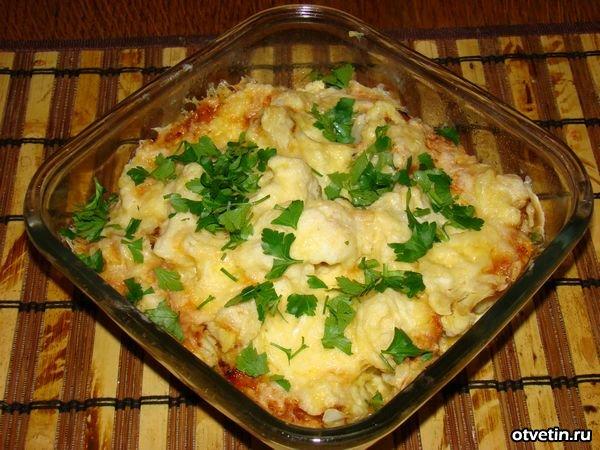 блюда и грибов и цветной капусты