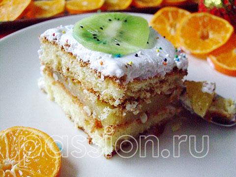бисквитный торт с банановым кремом рецепт