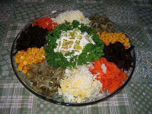 Салат радуга со свеклой рецепт пошагово