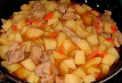 тушеный картофель с говядиной рецепт