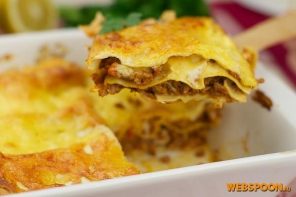 Рецепт лазаньи с соусом болоньезе