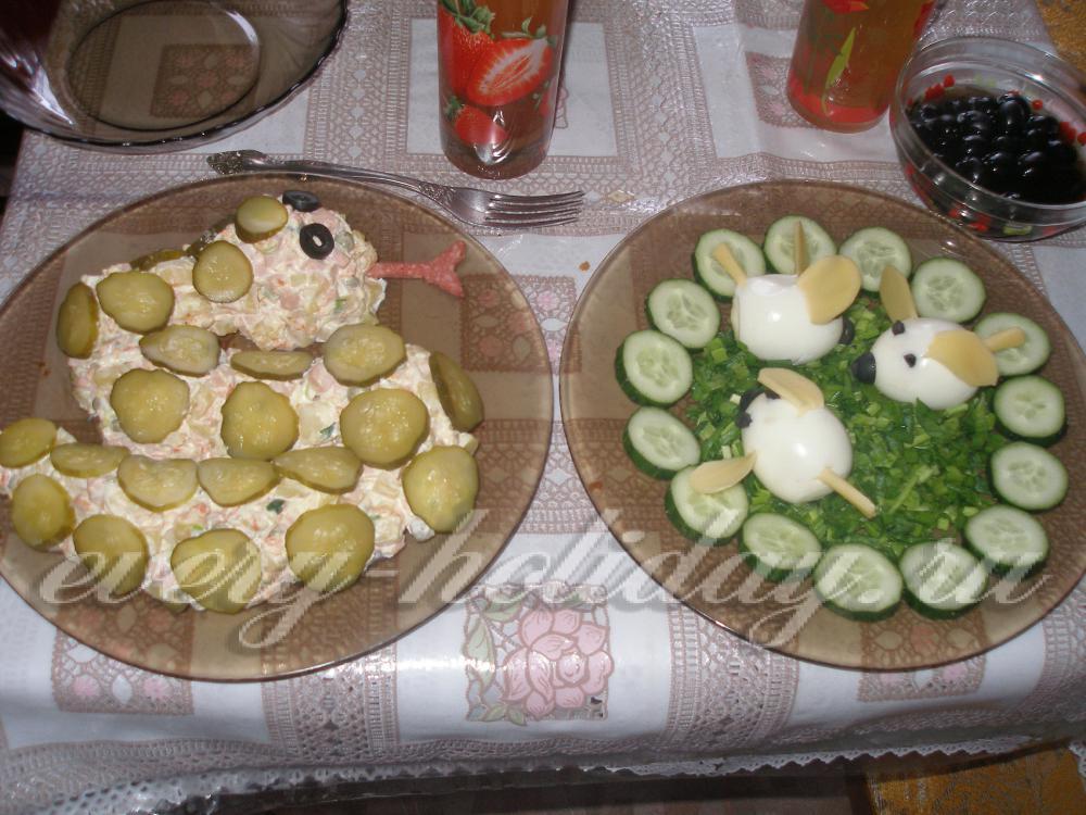 Готовим салаты на день рождения