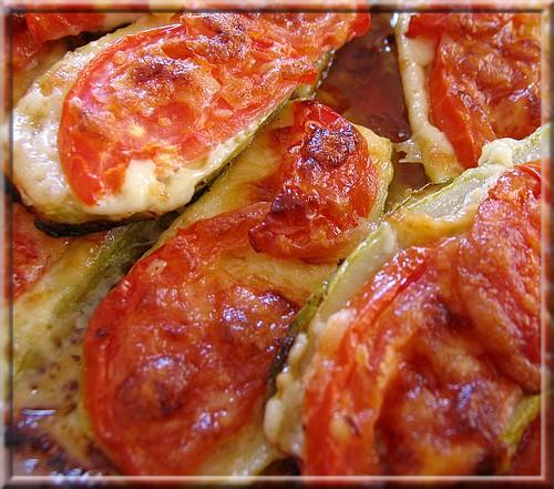 кабачки в духовке с помидорами рецепты с фото