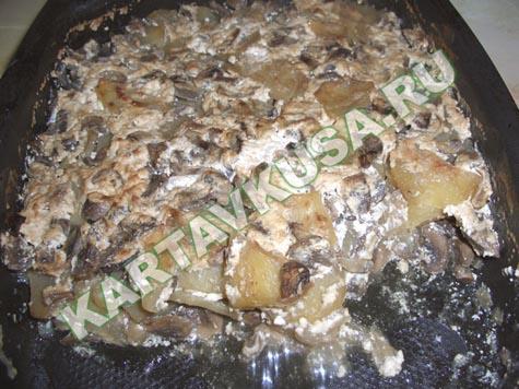 картошка запеченная с грибами в фольге » Вкусные и простые ...: http://retsepty-s-foto.ru/kartoshka-zapechennaya-s-gribami-v-folge.html