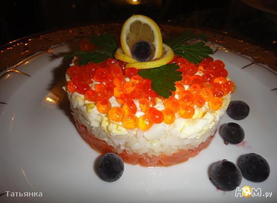 простые салаты с красной икрой рецепты с фото